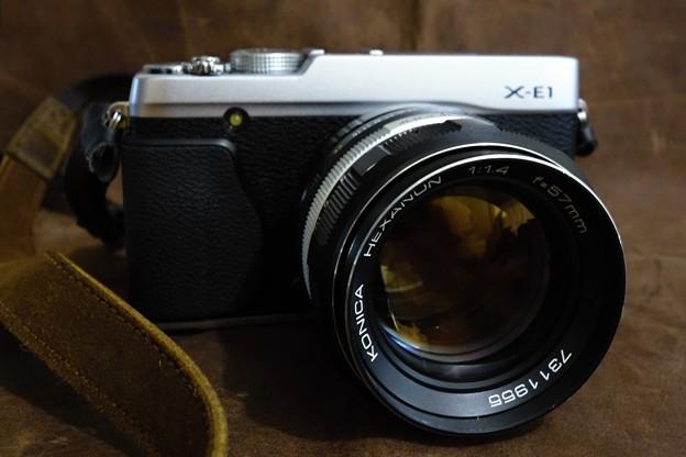 X-E1とKONICA AR HEXANON 57mm/F1.4 No.1