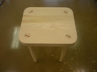 木工作品 スツール4