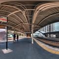 JR用宗駅プラットフォーム 360度パノラマ写真  HDR