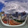 360度パノラマ写真 清水橋(跨線橋)からの眺望 HDR