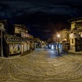 Photos: 360度パノラマ写真 京都 二年坂 夜景 HDR