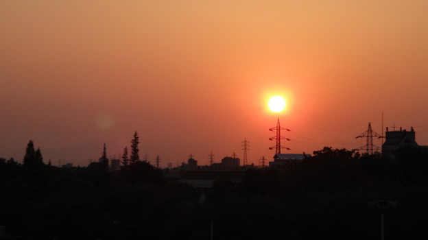 ある日の夕陽