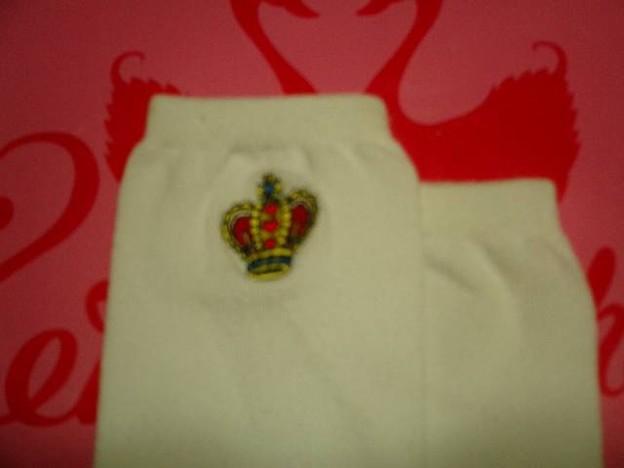 王冠刺繍ソックス