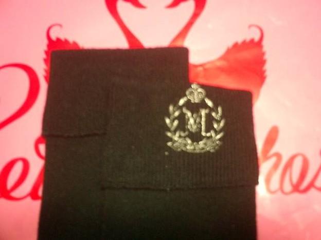 ロゴ王冠刺繍ソックス