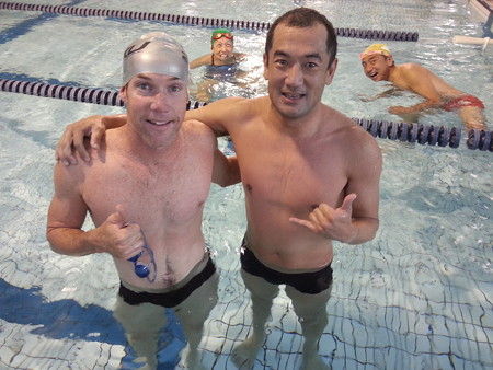 121127 Swam with Cameron Brown