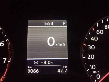 140107 外気温-4℃