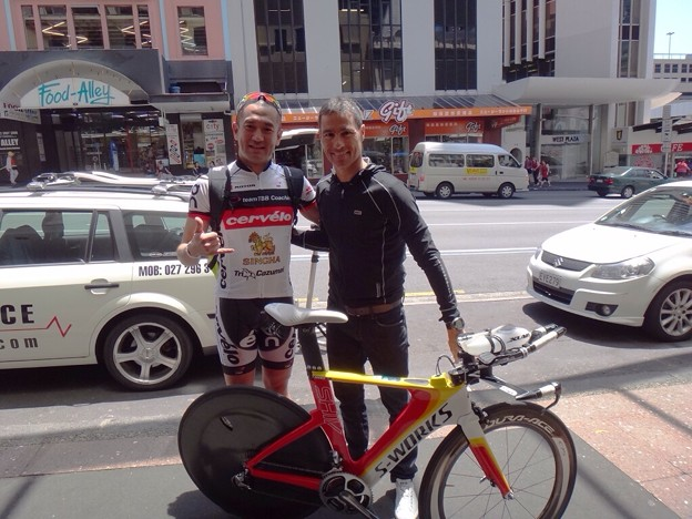 写真: IM 70.3 Auckland. with Crowie