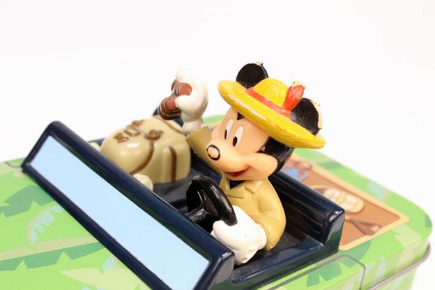 ミッキーマウス ジャングルクルーズ ジープ型サブレ缶