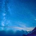 写真: 白雲の夜