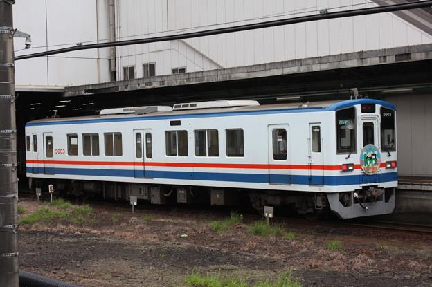 関東鉄道常総線 キハ5000形5003 常総線100周年ヘッドマーク