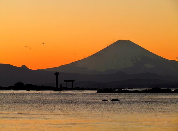 Photos: 葉山・真名瀬海岸~富士山