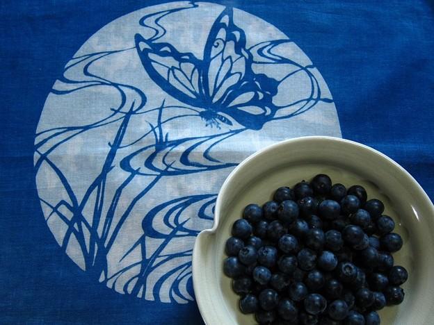 藍染とブルーベリー