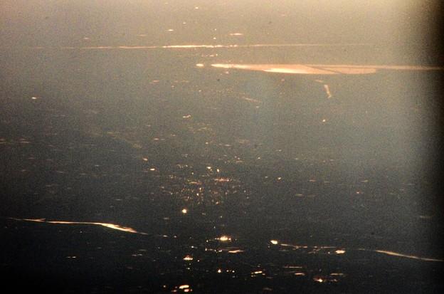 写真00198 夕霞の中の「渡良瀬遊水地」