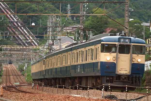 115系・山スカ・上野原駅にて