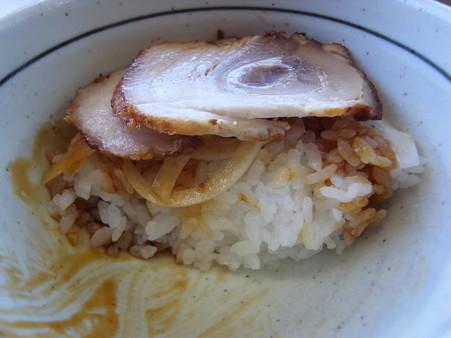 ラーメンのこじま チャーシュー丼 断面図