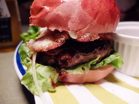66 ベーコンエッグバーガー ハンバーグアップ