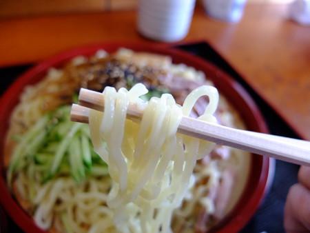 天ぷら五郎 つけラーメン 麺アップ