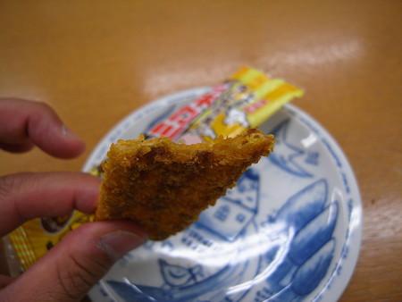 新潟限定 レルヒさんのタレかつ丼風味 ノッポカツ 断面図
