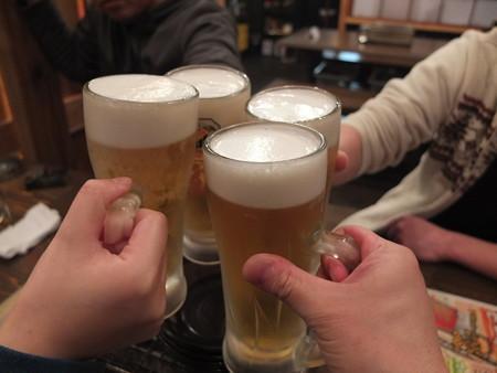 浜焼太郎 上越高田店 アサヒスーパードライ中ジョッキ ¥490*4