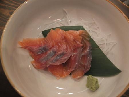 浜焼太郎 上越高田店 キングサーモンの刺身 ¥578