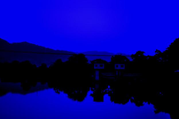 Morning view白石川朝景