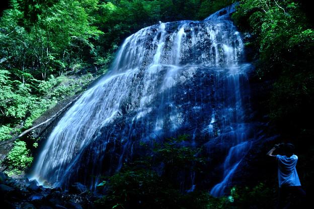 Photographer of waterfall