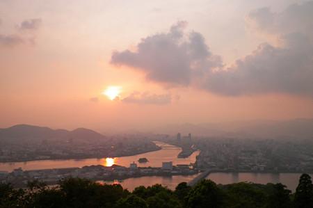高知の夕日