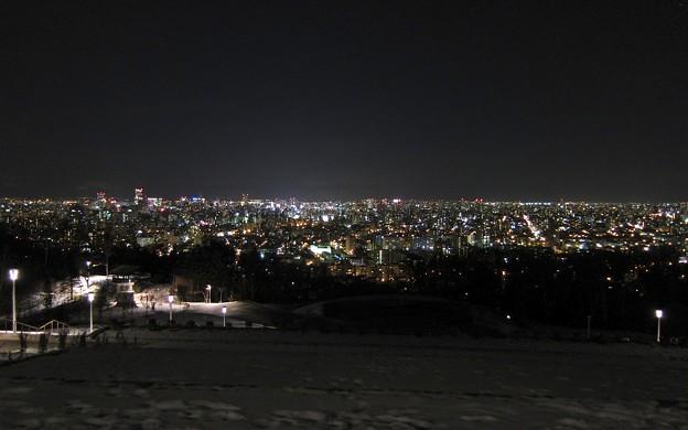 札幌旭山記念公園からの夜景:加工済