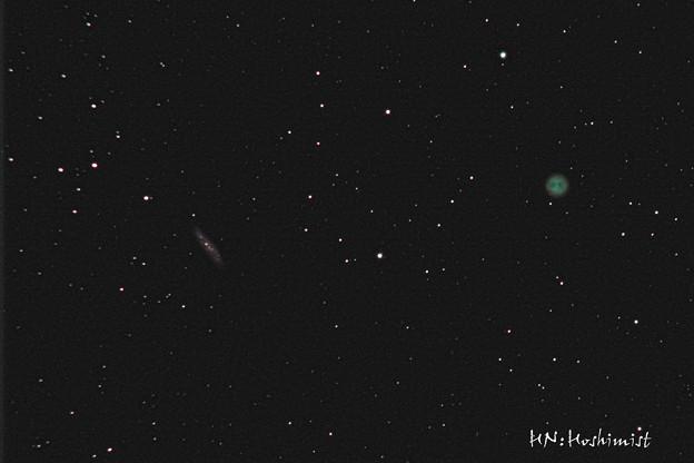 渦巻銀河M108とふくろう星雲M97(IMG_1176)