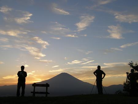 富士の夕景(足柄峠)