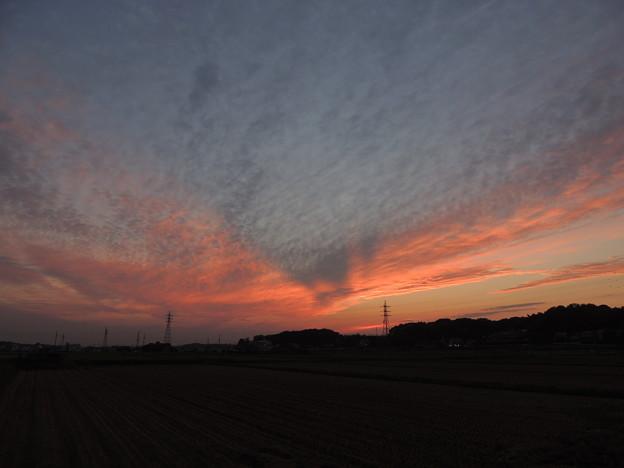 夕焼けの後光