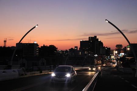 豊田大橋からの夕焼け空