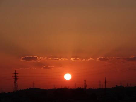 穏やかな夕陽