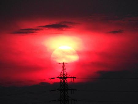 夕陽も色々~~