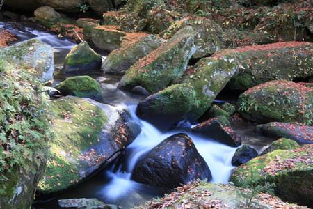 王滝渓谷:紅葉の残り美