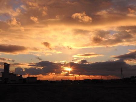 20121211夕陽