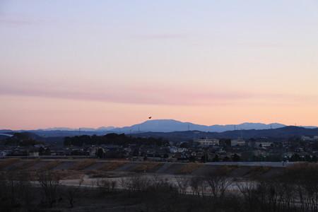 恵那山の朝焼け