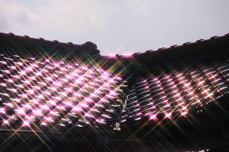 屋根瓦の煌めき