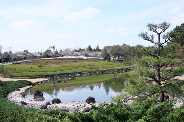 日本庭園からの眺め
