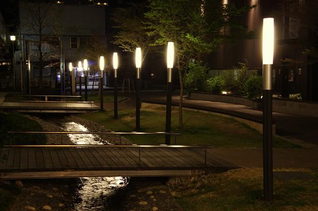 豊田市の夜景:せせらぎ