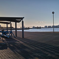 港の夕暮れ