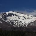 写真: 雪残る春の箕輪山