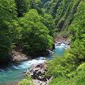 清津峡の流れ