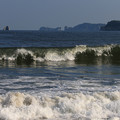 写真: 荒波の野蒜海岸