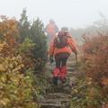 栗駒山に登る人々