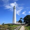 写真: 雲と灯台