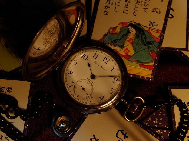 懐中時計と百人一首