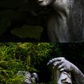 写真: デンパークの石像達