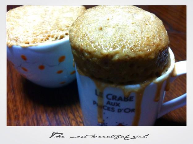 写真: マグカップケーキ
