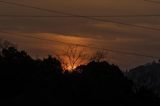 Photos: 家の団地から見た今日の夕暮れ^^